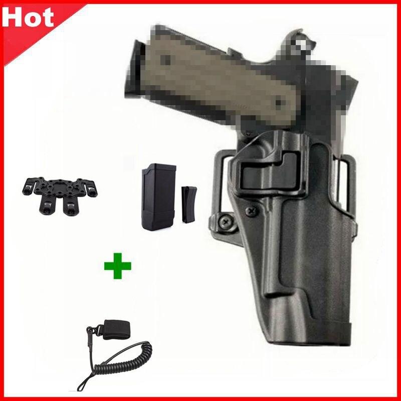 Quick Draw Tactical Airsoft Gun Holster Military Right Hand Belt Holster Gun Carry Case For Pistol Colt 1911