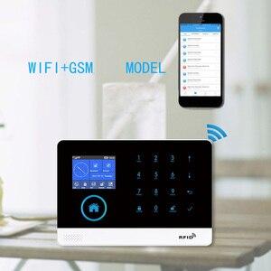 Image 2 - בית Wifi GSM אזעקת אבטחה אלחוטית מערכת בטוח ערכות 433MHz גלאי חיישנים RFID APP בקרת רוסיה ספרדית צרפתית