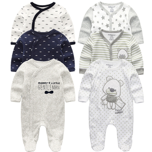 Image 1 - Newborn Baby winter clothes 2/3pcs baby boys girls rompers long Sleeve clothing roupas infantis menino Overalls Costumes