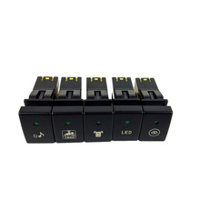 1PC Heating Rearview fan Radar parking sensor After Fog Light Rearview mirror folding Switch Button For for Suzuki Jimny 07 15