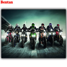 DIY square round diamond Embroidery Motorcycle racing 5D DIY Diamond mosaic Diamond Painting Cross Stitch Rhinestone icon art