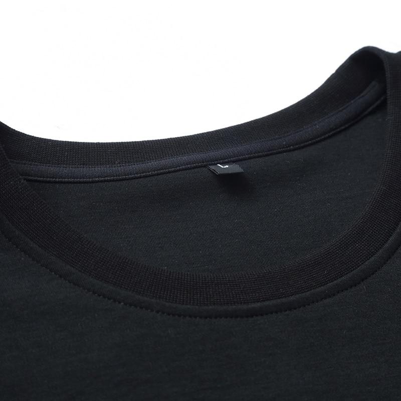 Nowy Plus rozmiar 8xl wiosną i jesienią moda marka bluzy mężczyźni Casual bawełniane swetry bluzy nadrukowane litery odzież marki