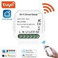Светодиодный диммер Tuya  DIY WiFi Smart 1/2 Way светильник Smart Life/Tuya APP  дистанционное управление  работает с Alexa Google Home