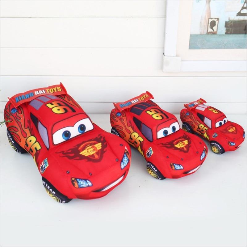 Машинки Disney Pixar, детские игрушки, 17 см, 25 см, 35 см, плюшевые игрушки Маккуин, милые Мультяшные машинки, плюшевые игрушки, лучшие подарки для дет...