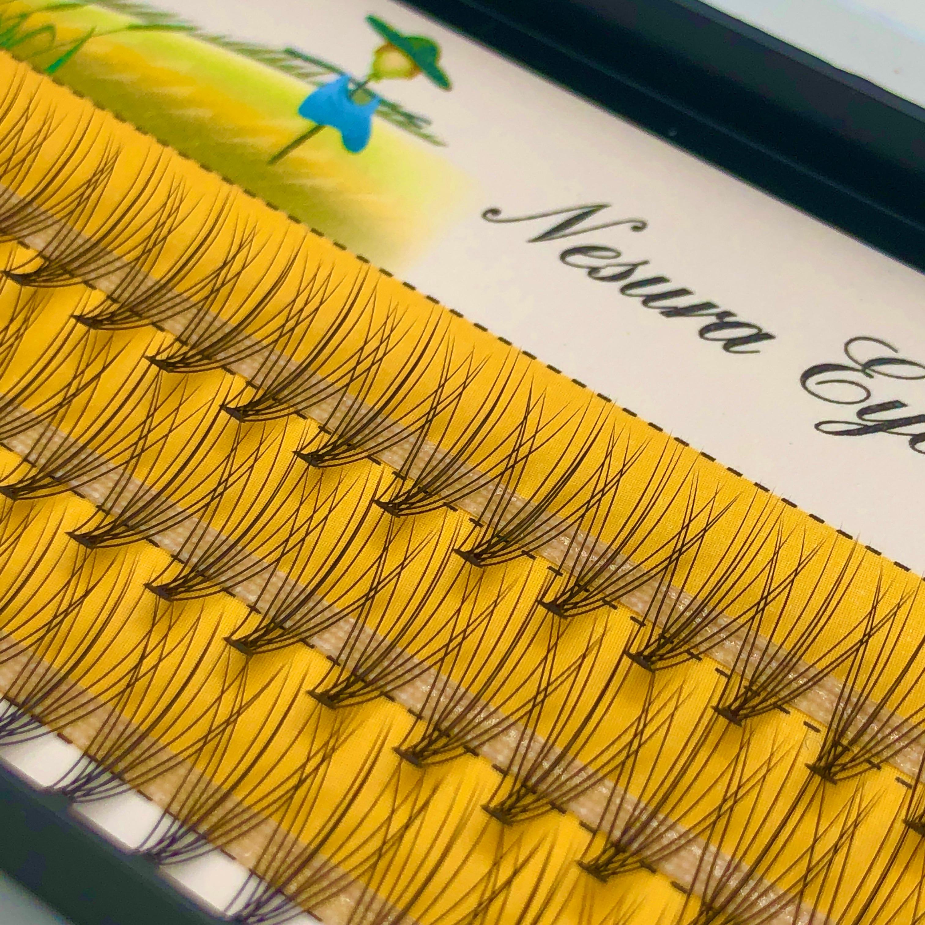 60 Pcs Mink Eyelashes Extension Natural 3D Russian  Volume Faux Eyelashes Individual 10D Cluster Lashes Makeup Cilia