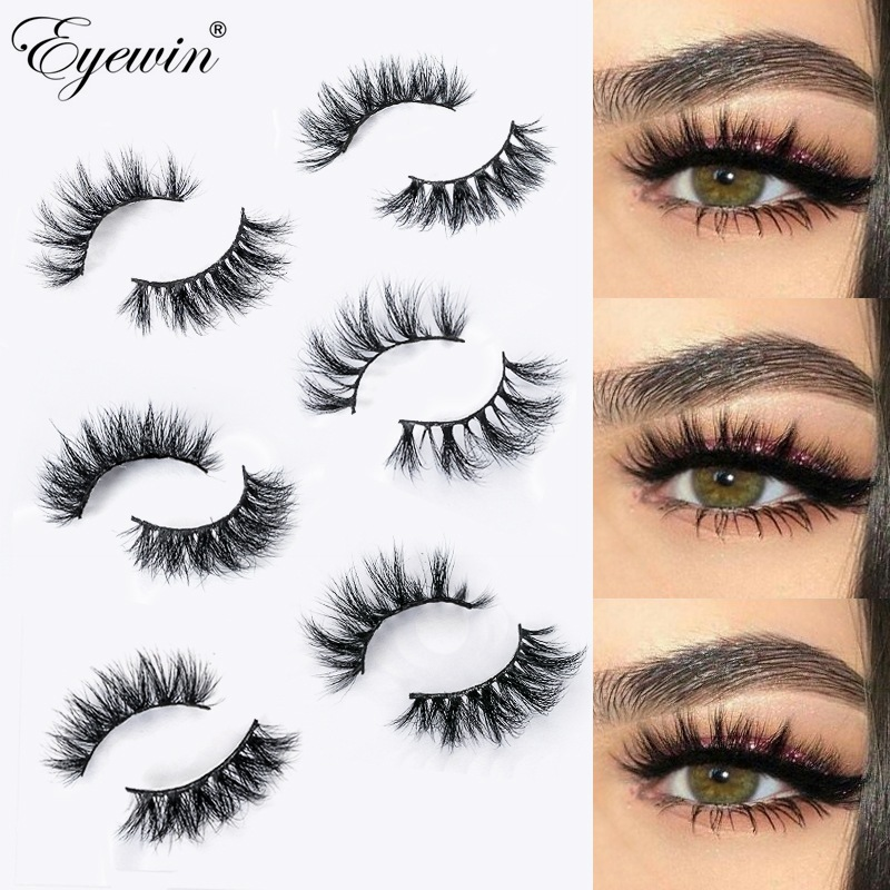 Eyewin Eyelashes 3D Mink False Lash Natural Long Lashes Dramatic Volume Eyelash Makeup Lash Mink Eyelash Faux Cils 25mm Eyelash