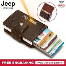 Rfid Men Leather Credit Card Holders Business ID Card Case Fashion Automatic Card Holder Blocking  Aluminium Bank Card Wallets