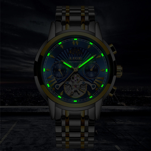 Image 2 - LIGE Men Watch Tourbillon Automatic Mechanical Watch Top Brand Luxury Stainless Steel Sport Watches Mens Relogio Masculino 2019