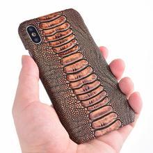 Struzzo Del Piede In Vera Pelle Dura Borsette Cassa Del Telefono Per Xiaomi 9 Se 9T Pro Cc9 Cc9e 8 Pro A3 cassa del cellulare