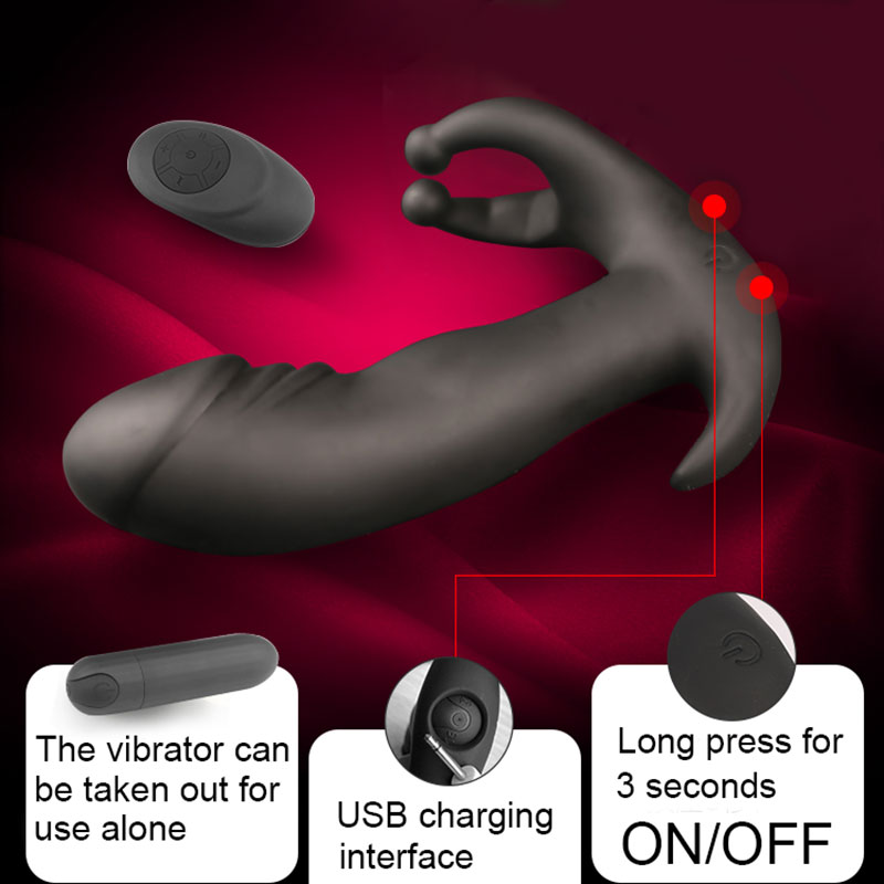 Yunman 3 Speeds +10 Frequancy Remote Control Prostate Massager Anal Vibrating Butt Plug <font><b>Sex</b></font> <font><b>Toys</b></font> <font><b>For</b></font> Man Masturbator <font><b>Gay</b></font> <font><b>Sex</b></font> image