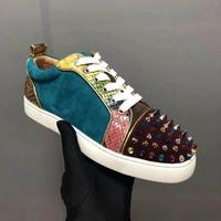 Luxury design Colorful Rivets women vulcanize shoes Low Top sneakers comfortable leisure outdoor moccasins lovers flats girls