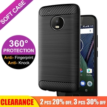 [Clearance] For Moto E4 E5 G5s G6 G7 Plus Soft TPU Carbon Fiber Back Cover Z2 Force Z3 Play Luxury Silicone Case