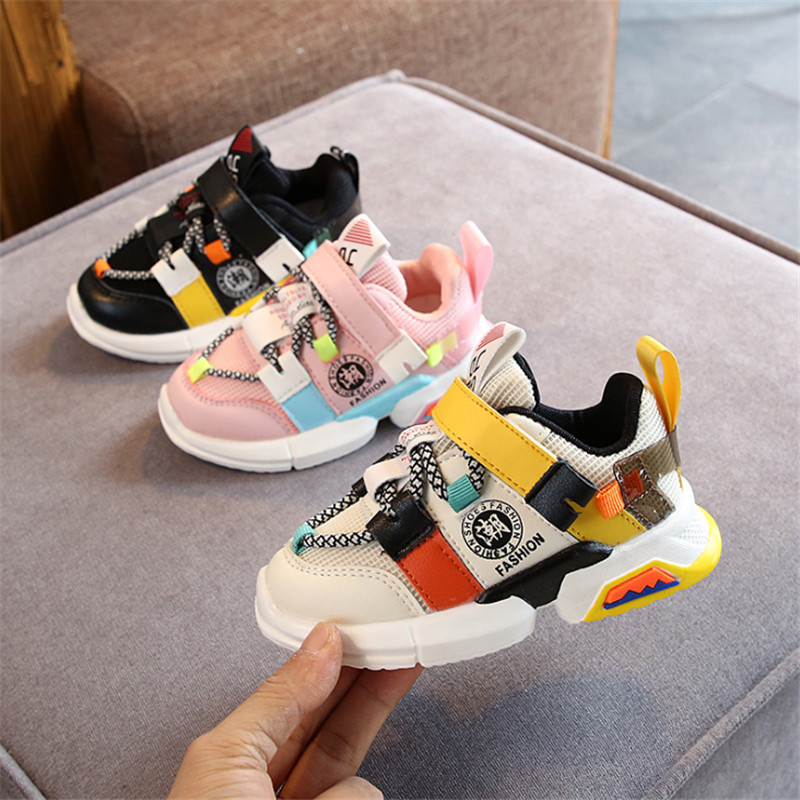 DIMI 2020 Spring Children Shoes Boys Girls Casual Shoes Fashion Breathable Baby Sneakers Mesh Soft Non-slip Kids Shoes