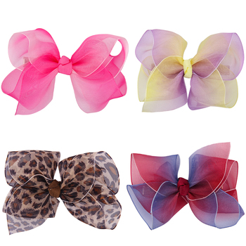 Chiffon Ribbon Bowknot Hair Clip Butterfly Hairpin Cute Clipper for Baby Girls Barrette Children's Hair Accessories ubuhle fashion women full pearl hair clip girls hair barrette hairpin hair elegant design sweet hair jewelry accessories 2019