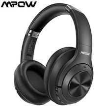 MPOW H21 Bluetooth Wireless 5 0 3 5mm Audio Cable Noise Cancelling Headphones CSR8635 Chip Bass Earphone For Cellphone PC Laptop cheap Over the Ear Hybrid technology CN(Origin) Wireless+Wired For Internet Bar for Video Game Common Headphone For Mobile Phone