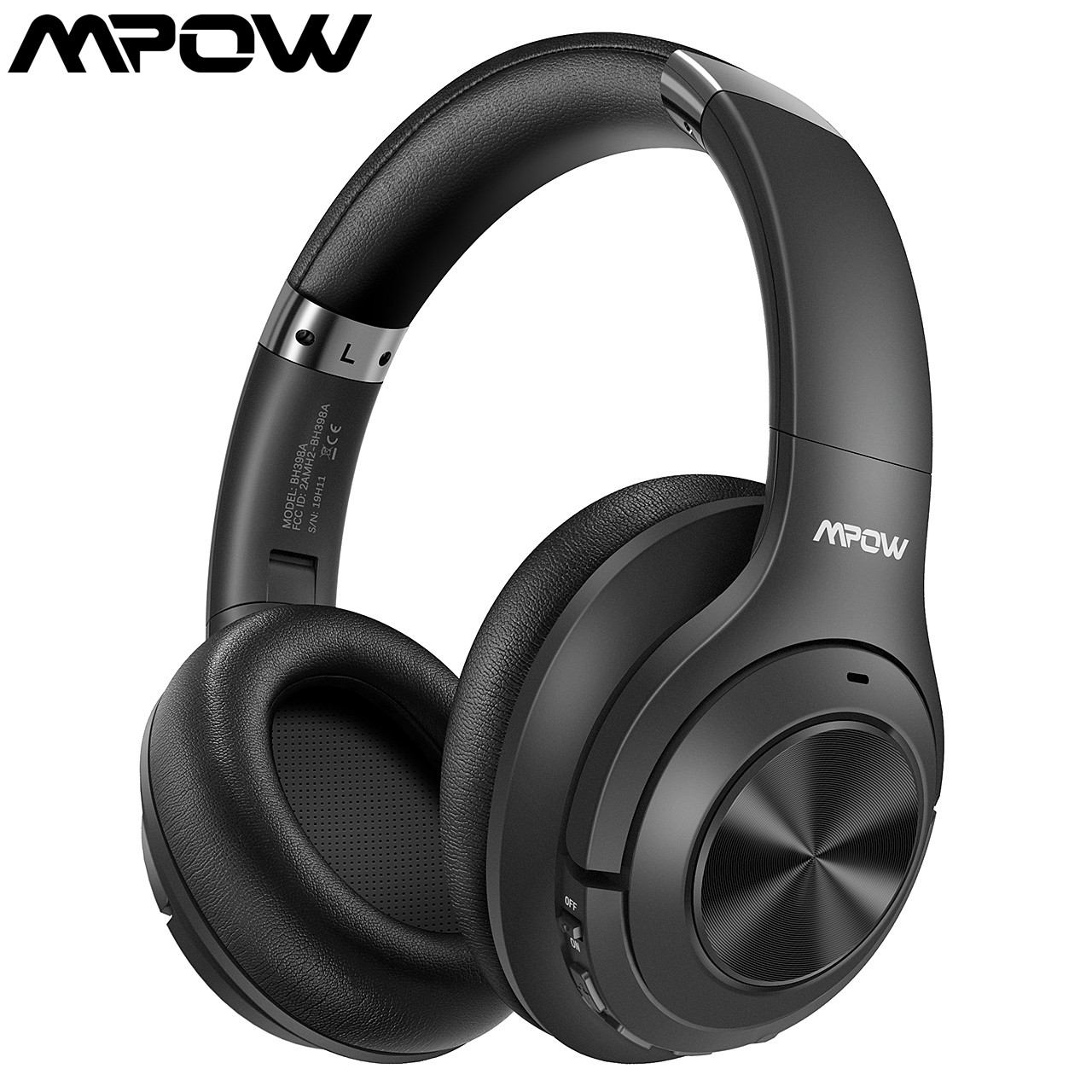 MPOW H21 Bluetooth Wireless 5.0/3.5mm Audio Cable Noise Cancelling Headphones CSR8635 Chip Bass Earphone For Cellphone/PC/Laptop