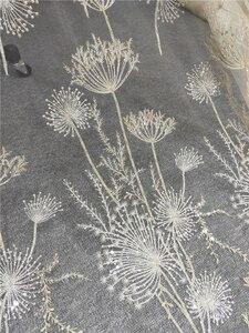 Image 5 - 1 ヤードの高級ゴールドビーズタンポポスパンコールチュール刺繍レース生地オートクチュール布レースdiyクラフト結婚式 135 センチメートルワイド