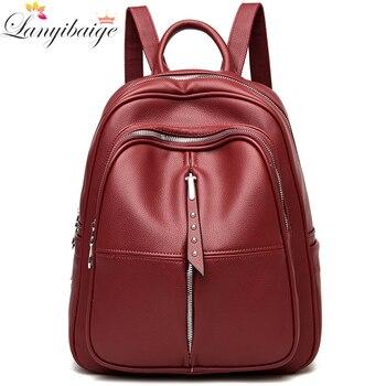 Winter Fashion Bohemia Style Shoulder Bag PU Leather Travel Backpack High