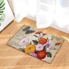 Ретро стиль цветочный принт коврики противоскользящие ковры