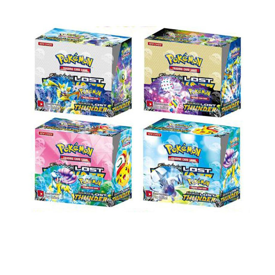 324pcs Pokemon cards TCG: Sun & Moon Lost Thunder Booster Box Collectible Trading Card Game Kids Toys Gift image