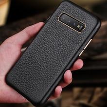 Premium Leather Case For Samsung Galaxy S10 Plus S10e Luxury Slim Soft Bumper Protective Cover Cases for