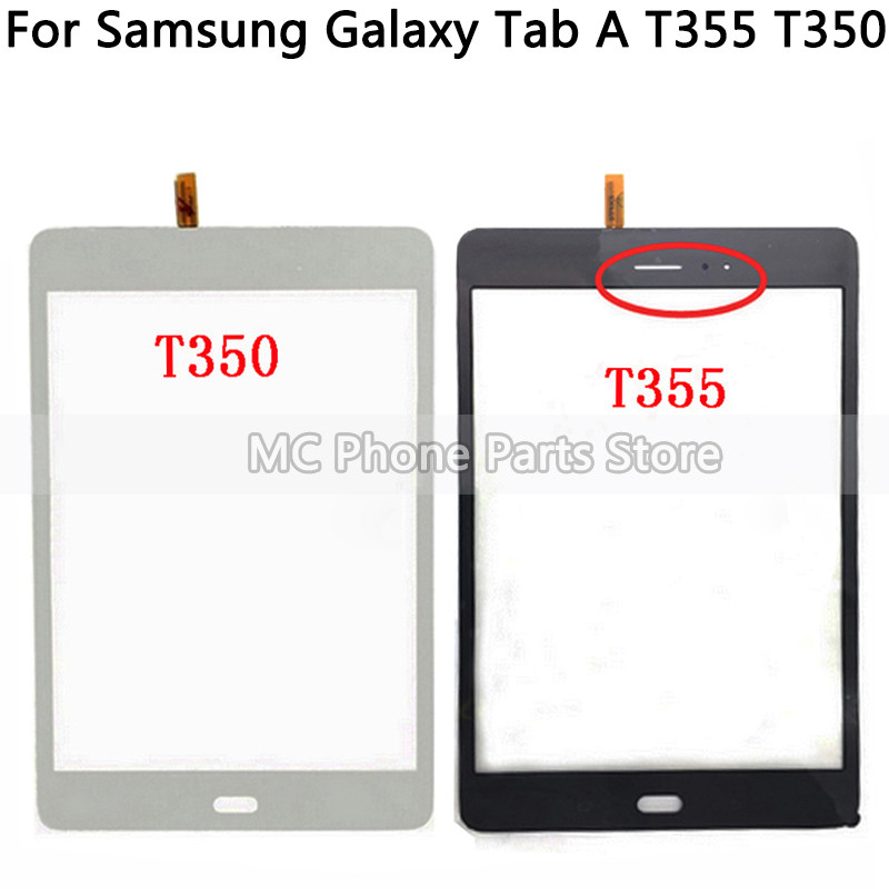 Original For Samsung Galaxy Tab A T355 T350 SM-T355 SM-T350 Touch Screen Digitizer Sensor Glass Panel Tablet Replacement