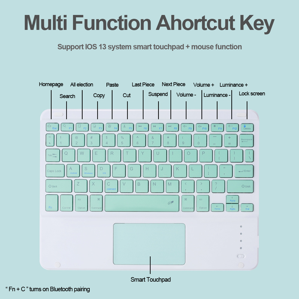Bluetooth Touchpad Keyboard For iPad Pro 12.9 Case 2018 Magnetic Ultra Slim Cover for iPad Pro 11 Inch Air 10.9 2020 Mouse Cases