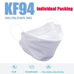 50 Uds kf94 마크 크 máscaras faciales máscaras protectoras antipolvo de 4 capas cubierta a prueba de polvo máscara KF94 embalaje Individual