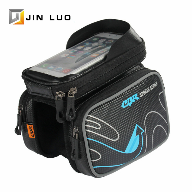 Bike Bag Top Tube Phone Pannier Front Waterproof Triathlon Pouch Bicycle Cycling Bags MTB BMX Folding Bikes Storage Accessories