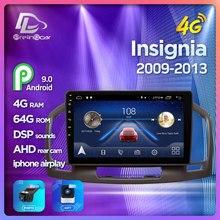 4G Lte Android 9,0 navegación multimedia de coche GPS reproductor de DVD para el Opel Insignia 2009-2013 años IPS pantalla Radio Estéreo