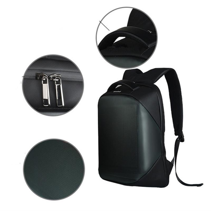 HiMISS Neueste Wifi Smart LED Rucksack mit led Display Screen Rucksack Wasserdicht für Walking Im Freien Werbung Rucksack LED