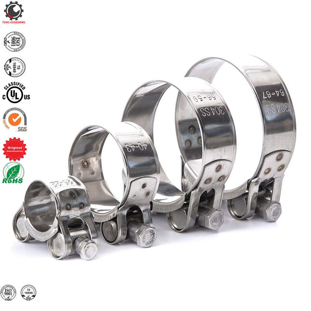 40-60 mm Heavy Duty Stainless Steel Hose Clamps High Quality Pipe Tube Clips 641