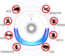 Ultrasonic Pest Repeller Indoor Pest Control Electronic Plug in Insect Repellent for Home Office Kitchen Warehouse Hotel 2/6pcs