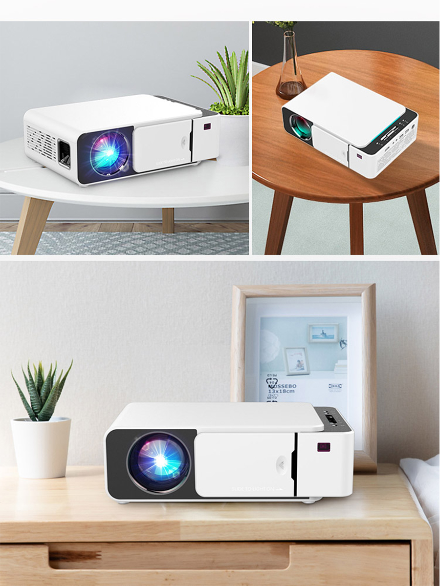 VIVICINE Newest V200 1280X720P LED HD Projector, Optional Android 7.1 Bluetooth,Support 4K Wifi HDMI USB LCD Home Theater Beamer 2