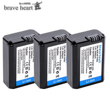 4Pcs 2000mAh NP-FW50 NP FW50 Battery + LED USB Dual Charger for Sony Alpha a6500 a6300 a7 7R a7R a7R II a7II NEX-3 NEX-3N NEX-5 cheap brave heart Camera CN(Origin) Standard Battery 7 4v