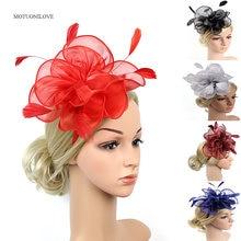 Свадебные шляпы с перьями цветами для особых случаев женские