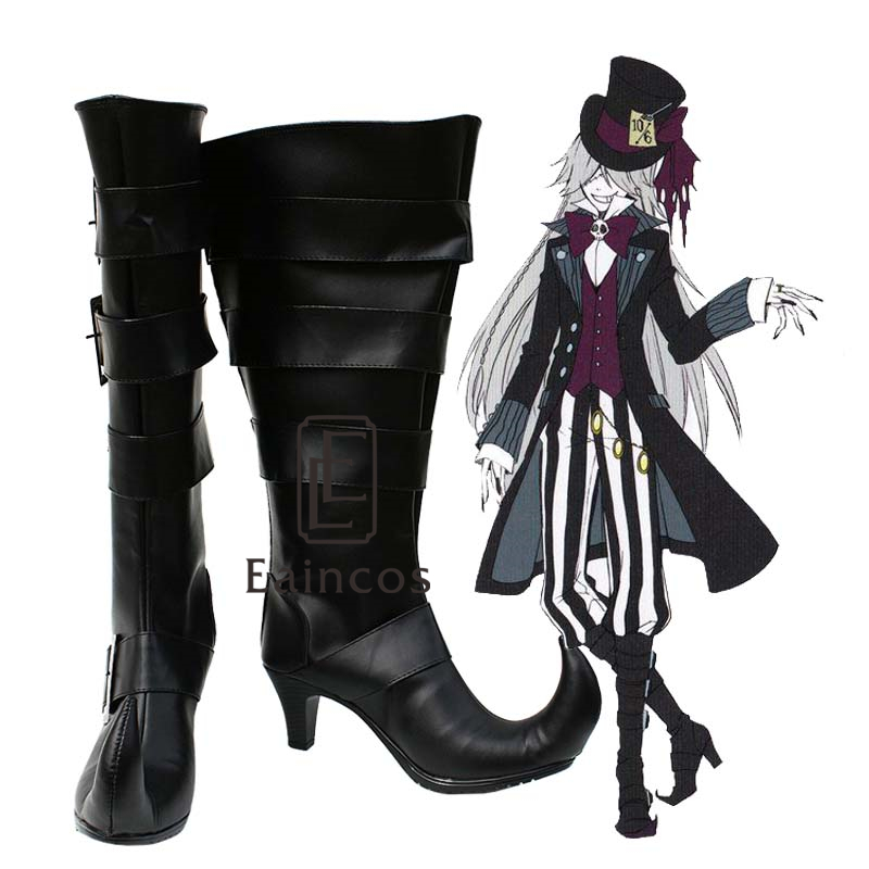 Black Butler Kuroshitsuji Undertaker Cosplay Party Shoes Customized Size