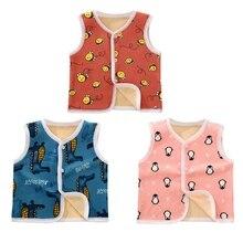 3 цвета, милые осенне-зимние повседневные модные детские жилеты без рукавов с мультипликационным принтом детские жилеты