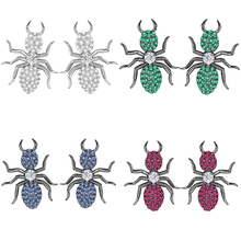 High quality original 925 sterling silver A little ant styling PM brand design Monaco asymmetric earrings ladies fashion jewelry