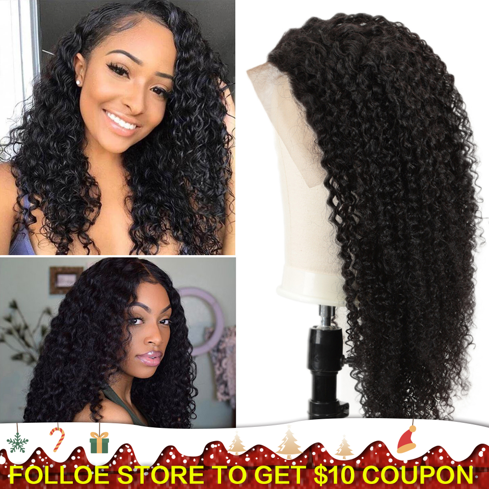 Joedir 250 Density Lace Wig Pre Plucked Lace Front Human Hair Wigs Brazilian Afro Kinky Curly Wig For Women Curly Lace Front Wig