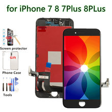 Replacement LCD For iPhone 7 Plus Display Touch Screen Digitizer Assembly Fix Mobile Phone Repair for iPhone 7 LCD,Black White new replacement for fly iq4416 iq 4416 lcd display screen white black color 1pc mobile phone lcd