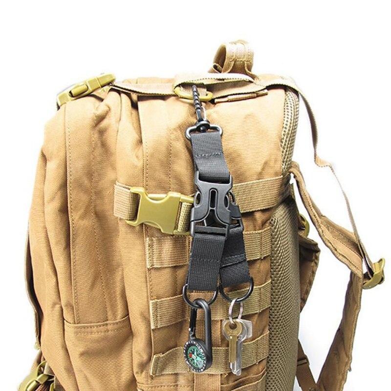Outdoor Multifunctional Carabiner EDC Tactical Nylon Webbing Backpack Hook D-Shaped  Double-split Quick Hanging Accessories