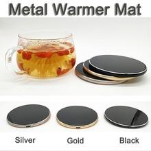 Ультратонкий Роскошный металлический usb-подогреватель для напитков, коврик для кружки, сохраняющий тепло, подставка под кружку, простой стиль, подогреватель, usb-гаджет