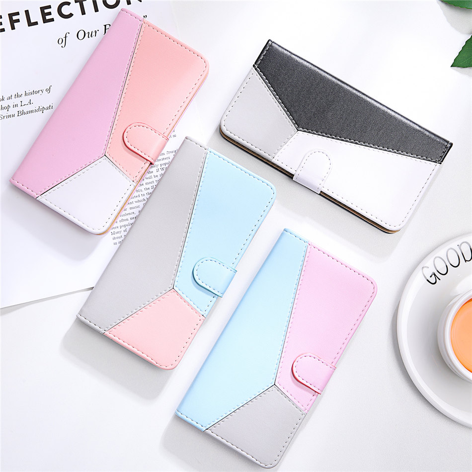 Girls Flip Phone Bags For Samsung Galaxy Note 10 Lite 10 Plus S20 S10 Hit Color  Case Card Pocket