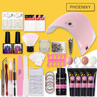Manicure Set Extend Builder Poly Gel Kits Nail Extension UV Acrylic Builder Gel 36W UV LED Lamp Nail Gel Polish Set Nail Kit
