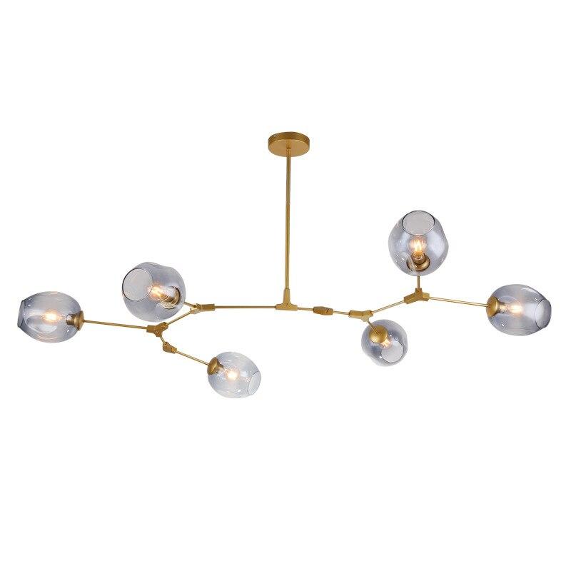 Modern Led Glass Pendant Lights Molecular Pendant Lamp Nordic Dining Room Kitchen Light Designer Hanging Lamp Lighting Fixtures