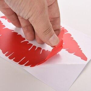 Image 5 - 1 шт., красивые красные наклейки с наклейками в виде губ, ПВХ, наклейки для автомобиля, наклейки для ноутбука, автомобильные наклейки, автомобильные аксессуары