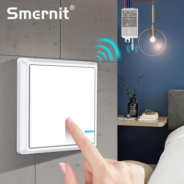 עמיד למים אלחוטי אור מתג שלט רחוק אור מתגים אין חיווט מהיר ליצור שלט רחוק תקרת מנורות LED נורות