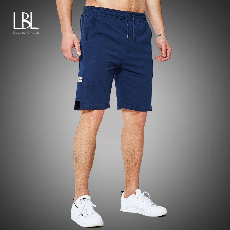 Summer New Cotton Drawstring Waist Shorts 2020 Men's Loose-Fit Casual Shorts Gray Blue Harem Short Joggers Sweatpants Trousers