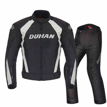 DUHAN Warm Motorcycle Jacket Men Motocross Suits Moto Jacket Protective Gear Armor Motorcycle Clothing Riding Jacket duhan summer motorcycle jacket men breathable mesh riding moto jacket motorcycle body armor protector moto cross clothing